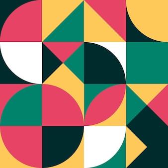 Padrão geométrico simples colorido sem costura de fundo abstrato do pôster