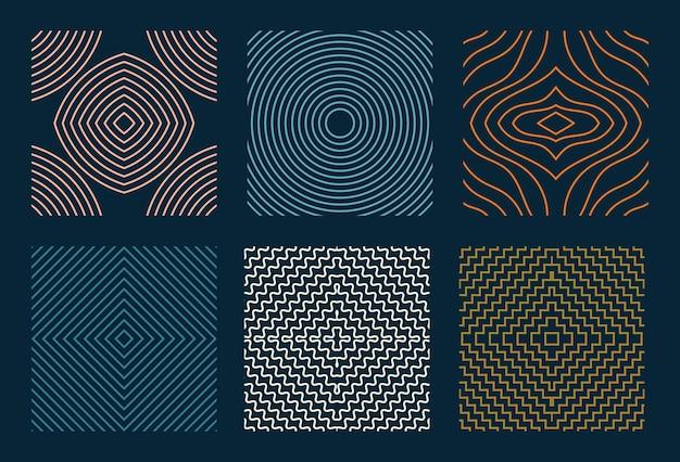 Padrão geométrico simples sem costura definido com linhas