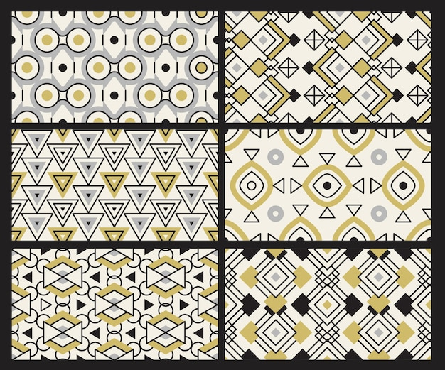 Padrão geométrico. texturas contemporâneas triângulos de tecido quadrado redondo fundo sem emenda de têxteis.