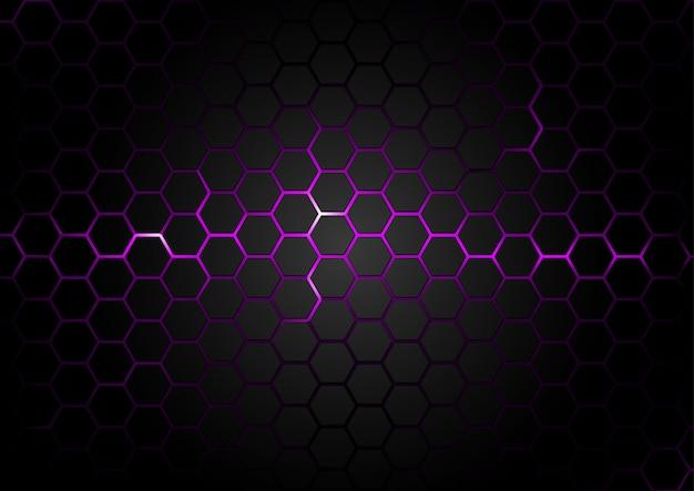 Padrão hexagonal em fundo roxo magma