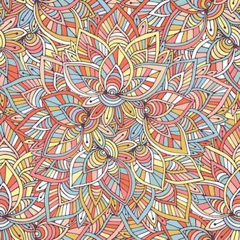 Padrão indiano decorativo. fundo do vetor. ilustração para papel de embrulho, design de embalagem