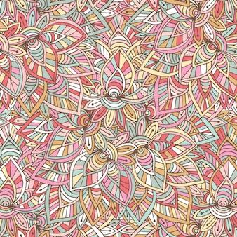 Padrão indiano decorativo. fundo oriental do vetor. ilustração para papel de embrulho, design de embalagens e decoração