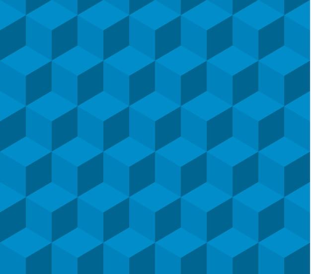 Padrão isométrico quadrado azul sem costura