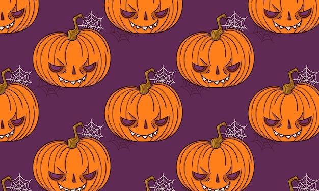 Padrão jack o lantern halloween assustador e assustador abóbora