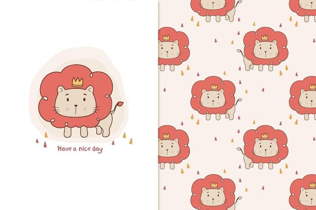 Padrão leão rei fofo