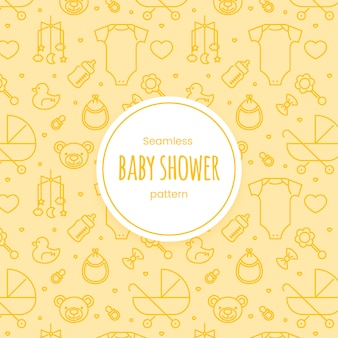 Padrão linear de chuveiro de bebê sem emenda