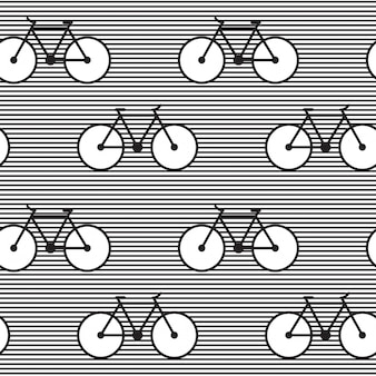 Padrão listrado com bicicletas