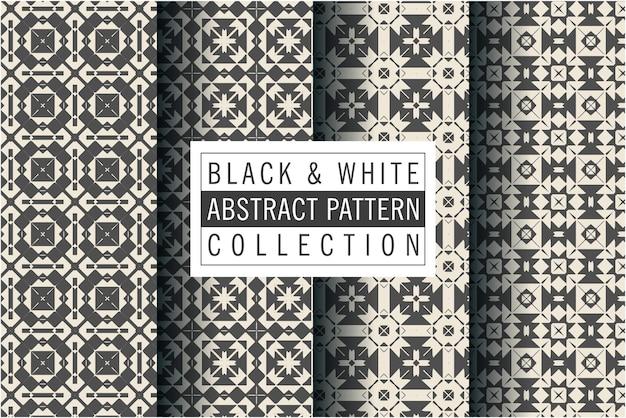 Padrão luxuoso em preto e branco em estilo mosaico