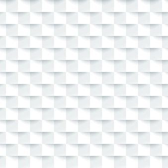 Padrão mínimo de azulejo quadrado branco 3d