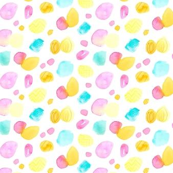 Padrão multicolorido de aquarela pontilhada