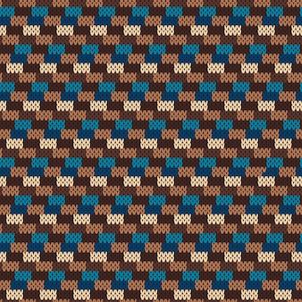 Padrão na textura de malha de lã