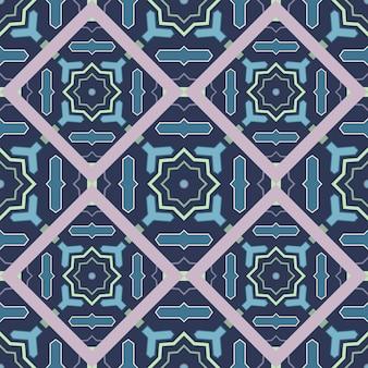 Padrão oriental de arabesco geométrico sem emenda.