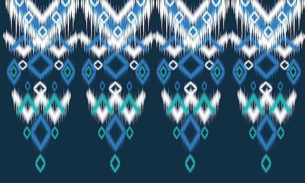 Padrão oriental étnico geométrico design tradicional para plano de fundo, tapete, papel de parede, roupas, embrulho, batik, tecido, estilo de illustration.embroidery do vetor.
