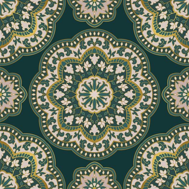 Padrão ornamental com mandala.