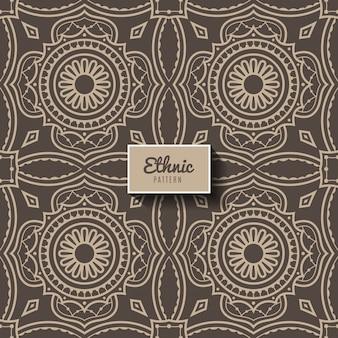 Padrão ornamental de estilo étnico, islã, árabe, indiano, motivos otomano