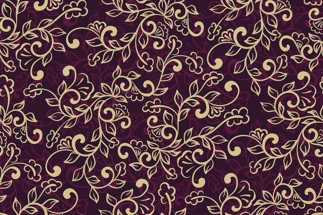 padrão ornamental floral