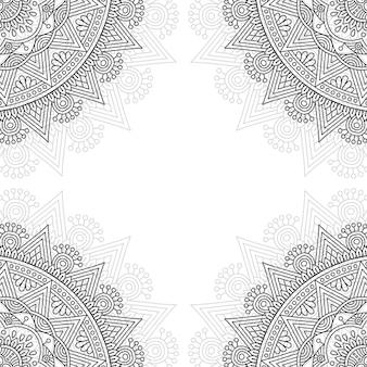 Padrão ornamental preto e branco.