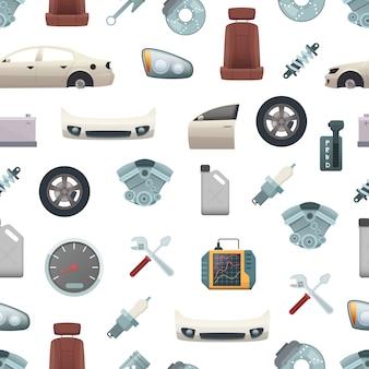 Padrão ou ilustração de peças de carro