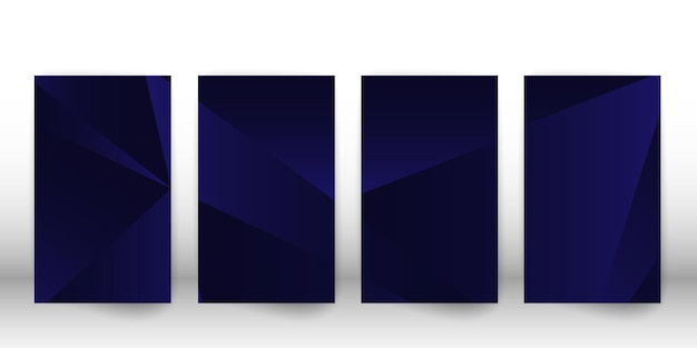 Padrão poligonal abstrato. desenho de capa escura com formas geométricas. modelo de capa de polígono. ilustração vetorial.