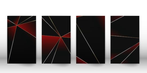 Padrão poligonal abstrato. design de capa escura de luxo com formas geométricas. modelo de capa de polígono. ilustração vetorial.