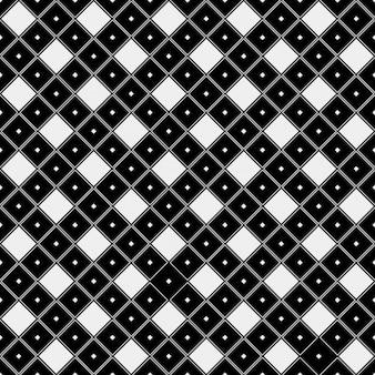 Padrão preto e branco em estilo telha