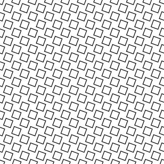 Padrão quadrado abstrata sem costura monocromática - design de vetor geométrico preto e branco a partir de quadrados angulares