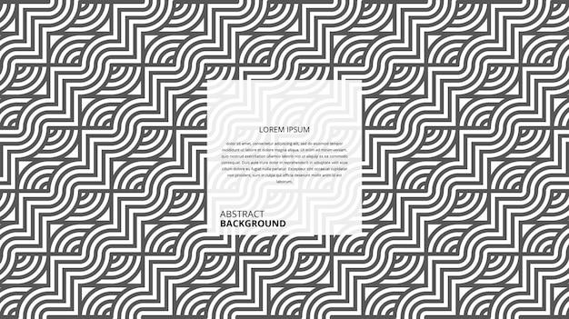 Padrão quadrado circular decorativo abstrato