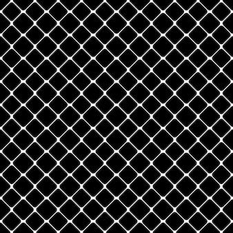 Padrão quadrado monocromático abstrato sem costura - design de fundo vetorial de quadrados arredondados diagonais