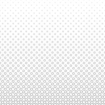 Padrão quadrado monocromático - desenho de fundo abstrata do vetor de meio-tom geométrico a partir de quadrados angulares