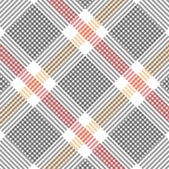 Padrão quadriculado vermelho amarelo preto e branco padrão quadriculado ilustração vetorial de fundo