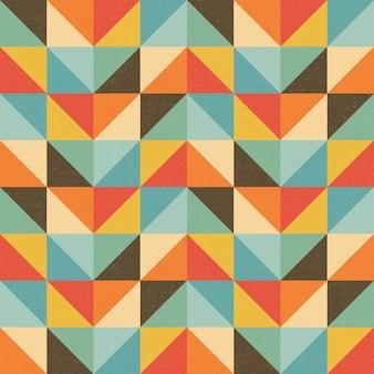 Padrão retro geométrico colorido sem costura