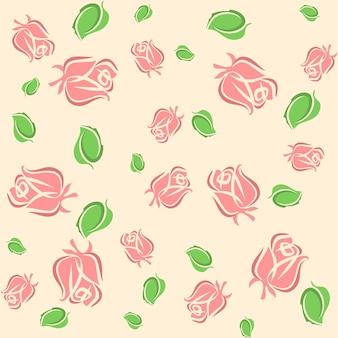 Padrão romântico com rosa