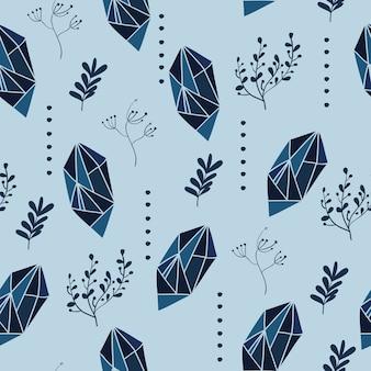 Padrão sem costura com elementos gráficos e florais. ilustração do vetor.
