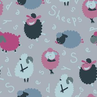 Padrão sem costura de sheeps