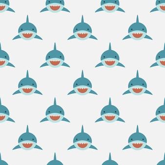 Padrão sem costura de tubarão