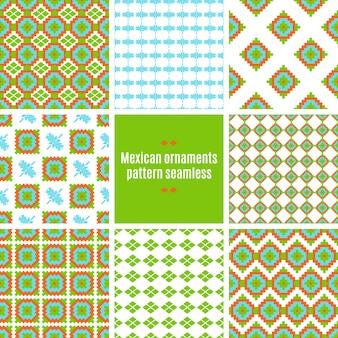 Padrão sem costura mexicano folkloric tracery