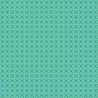 Padrão sem emenda abstrato com círculos e linhas.