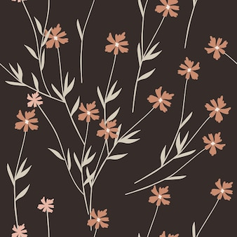 Padrão sem emenda abstrato com elementos de primavera.
