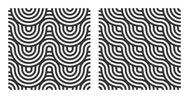 Padrão sem emenda abstrato com linha de círculo