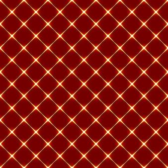 Padrão sem emenda abstrato com losangos vermelhos e ouro brilhante