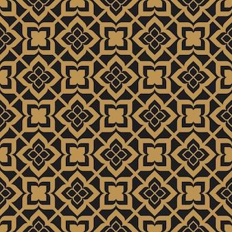 Padrão sem emenda abstrato de arabescos ornamentais islâmicos