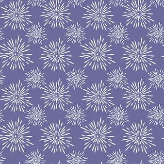 Padrão sem emenda abstrato de fogos de artifício isolado em ilustração vetorial azul impressão repetida de feriados