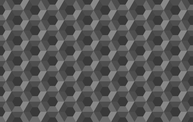 Padrão sem emenda abstrato de hexágono de favo de mel