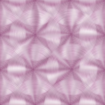 Padrão sem emenda abstrato de metal brilhante com textura circular escovada em cores rosa