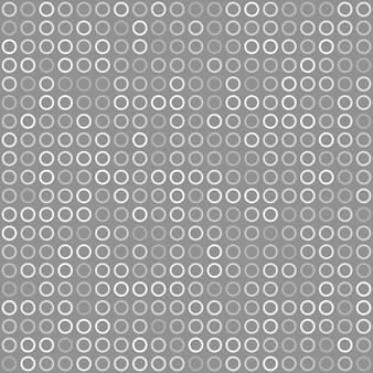 Padrão sem emenda abstrato de pequenos anéis ou pixels em cores cinza