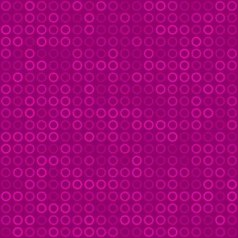 Padrão sem emenda abstrato de pequenos anéis ou pixels em cores roxas