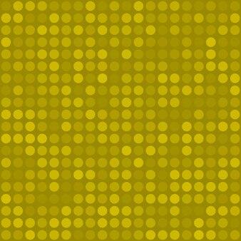Padrão sem emenda abstrato de pequenos círculos ou pixels em cores amarelas
