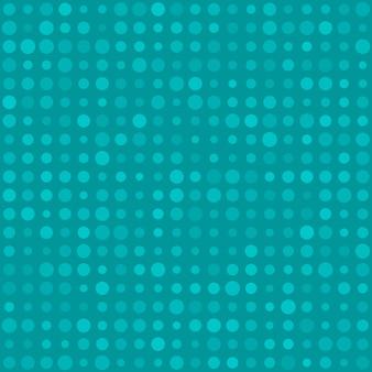 Padrão sem emenda abstrato de pequenos círculos ou pixels em vários tamanhos em cores azuis claras