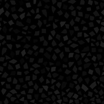 Padrão sem emenda abstrato de pequenos pedaços de papel ou lascas de cerâmica de diferentes tamanhos nas cores preto e cinza