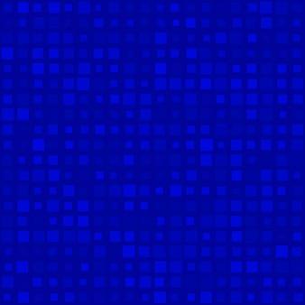 Padrão sem emenda abstrato de pequenos quadrados em vários tamanhos ou pixels em cores azuis